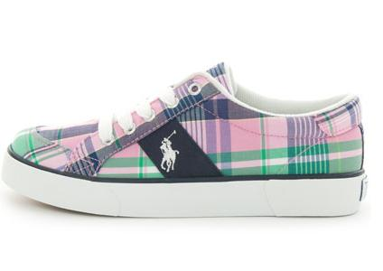 Women's Polo Ralph Lauren Mira Athletic Casual Shoes | FinishLine.com | Pure white